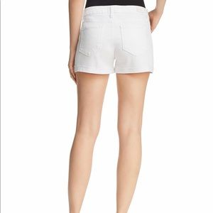 PAIGE Shorts - Paige The Hailey Cuffed White Denim Shorts P44